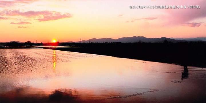 とちぎのふるさと田園風景百選(小山市下国府塚)